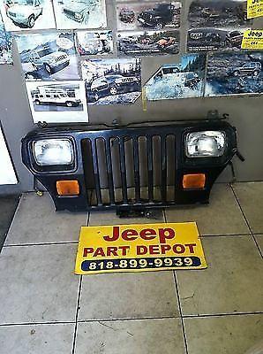 1987 1995 Jeep Wrangler Yj Oem Stock Black Front Complete Grille Assebmly Grill Jeep Wrangler Yj Jeep Jeep Wrangler