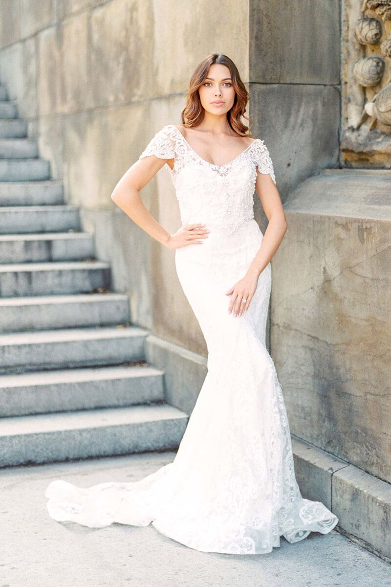 Mermaid wedding dresses with sleeves  Pin by bycouturier on Mermaid Dresses  Pinterest  Bridal dresses