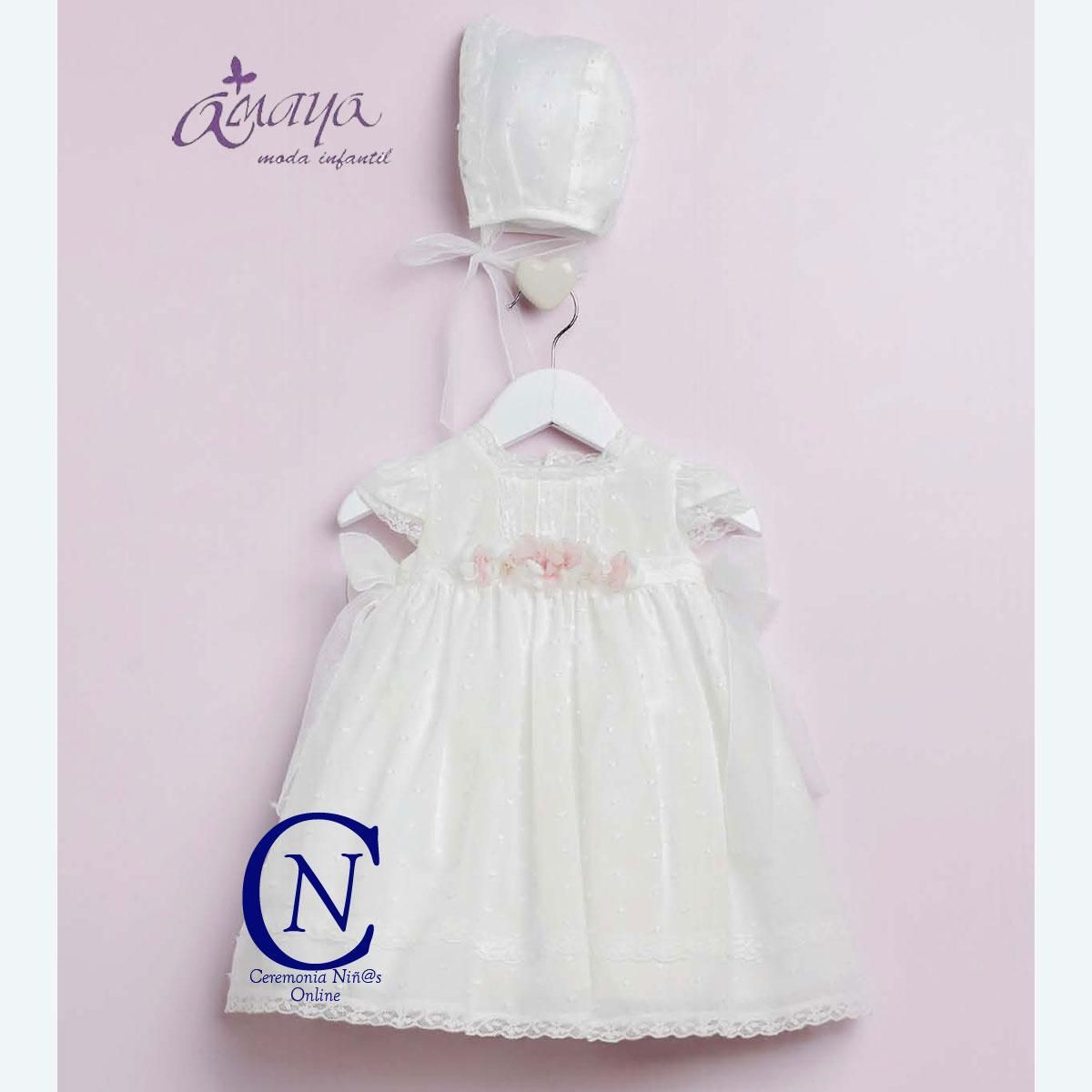 59ff43482 Vestido de bebe ARTESANIA AMAYA bautizo modelo 22201 | BAUTIZO Y ...