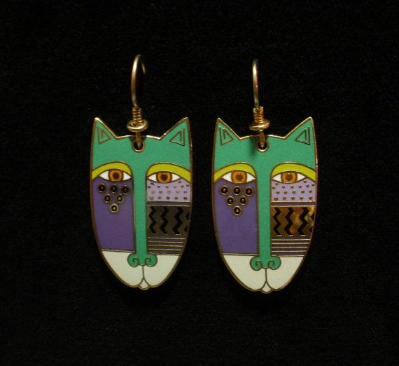 LAUREL BURCH Native Cats Earrings Excellent by Circa71Jewelry
