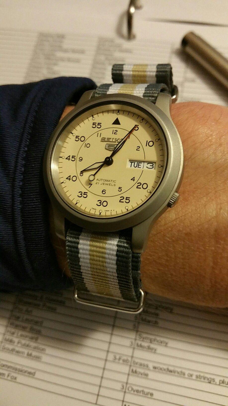 Seiko SNK803 NATO | Watches in 2019 | Seiko 5 watches, Seiko