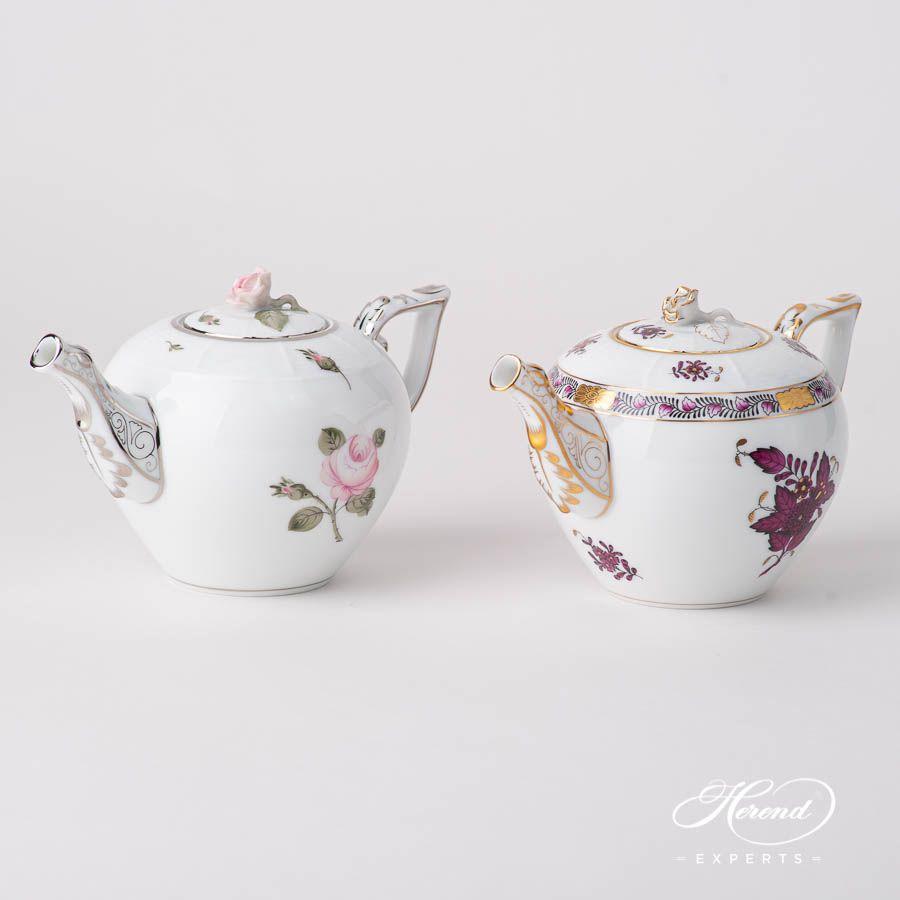 Tea Pot - Miniature - Chinese Bouquet / Apponyi Burgundy #teapotset