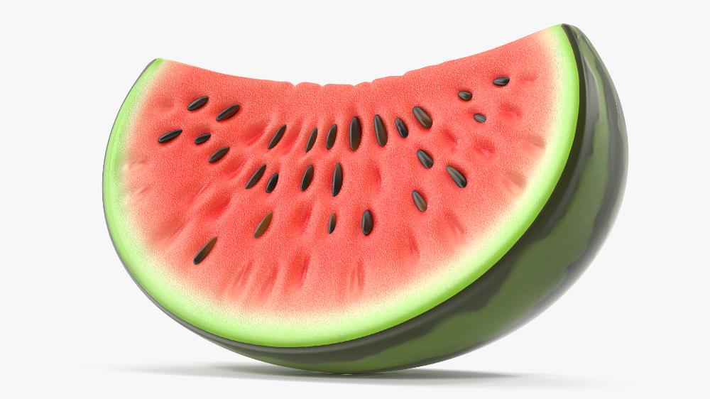 3d Cartoon Watermelon Slice Water Turbosquid 1583933 Watermelon Slices Watermelon Watermelon Cartoon
