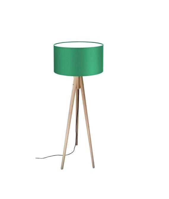 Lichthaus Worpswede Tripod Floor Lamp Wood ''color'' In 2020 | Wood Floor Lamp