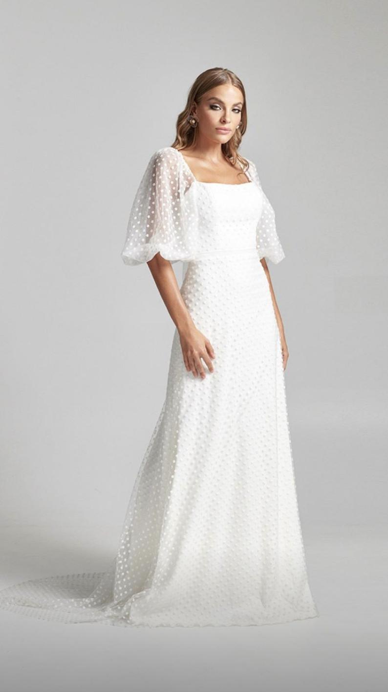 Unique Modern Wedding Dress Billow Sleeve Dresses Wedding Dresses Wedding Dress Sleeves