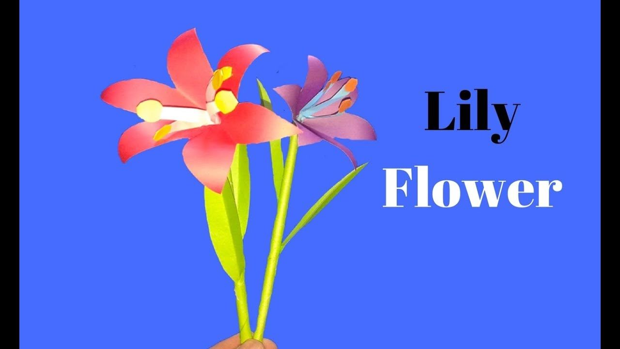 How To Make Lily Flower From Paper Paper Lily Flower Making Diy
