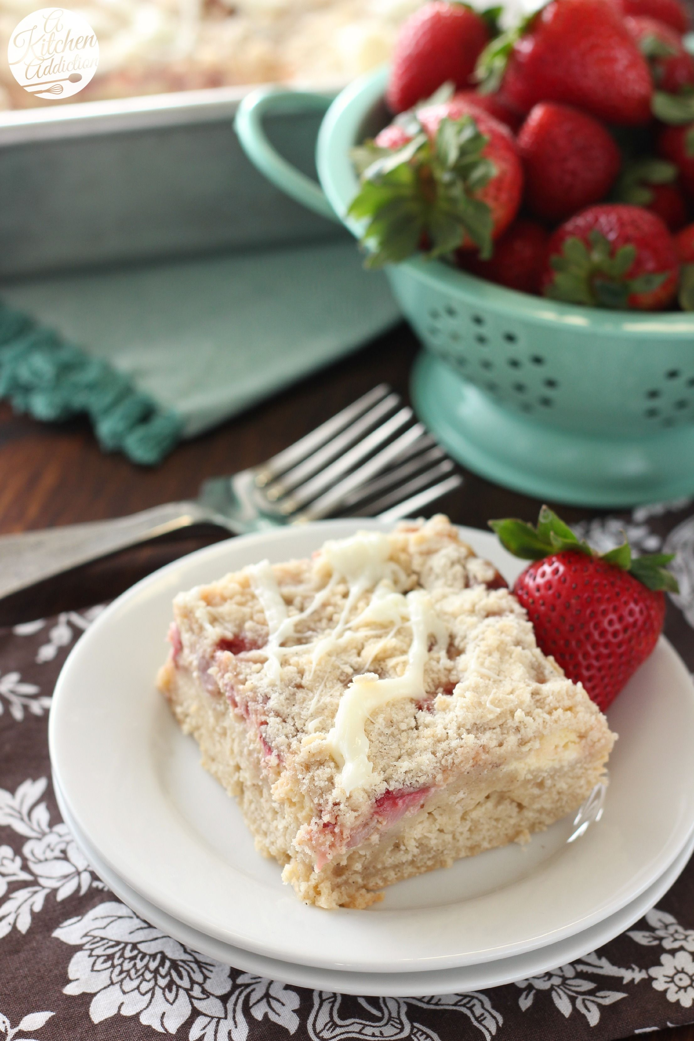 Strawberries and Cream Cheese Coffee Cake from