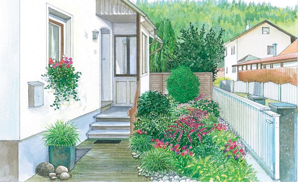 einen vorgarten einladend gestalten gartentraum pinterest stauden band und gestalten. Black Bedroom Furniture Sets. Home Design Ideas