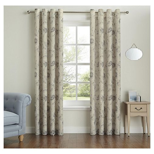 Tesco Direct Fox Amp Ivy Floral Curtains 66x54 Quot Living
