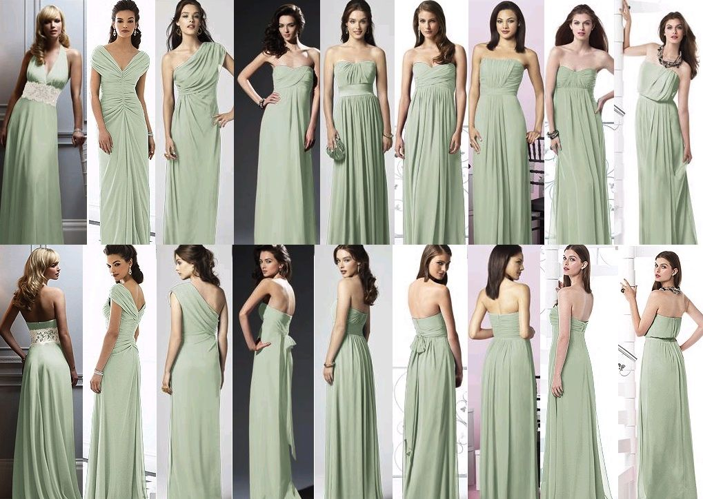 Mint Green Bridesmaids Dress Actually Celadon In Dressy
