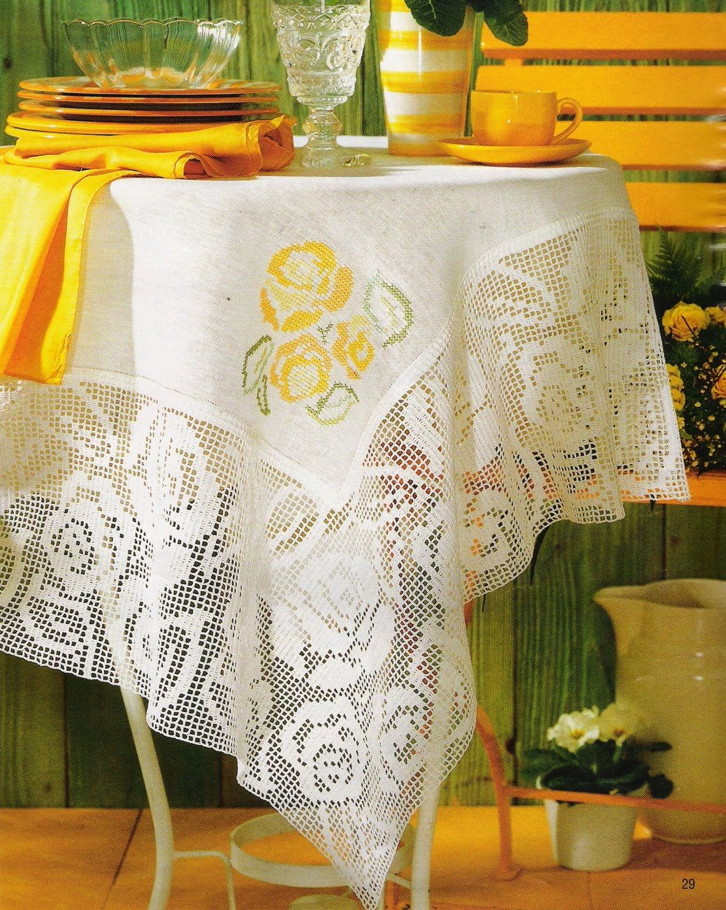 Tricot Decoration Interieur Mantel Toalhas Cortinas Crochet Tablecloth Filet