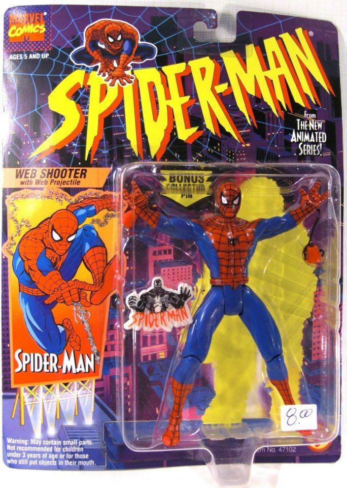 Vintage 1995 Marvel Comics Spider-Man Hero Caps Toy Biz Venom Pack