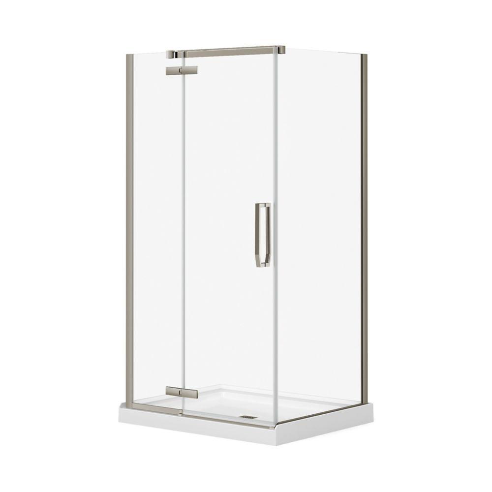 Davana 34 Inch X 42 Inch X 78 Inch Corner Frameless Shower Stall