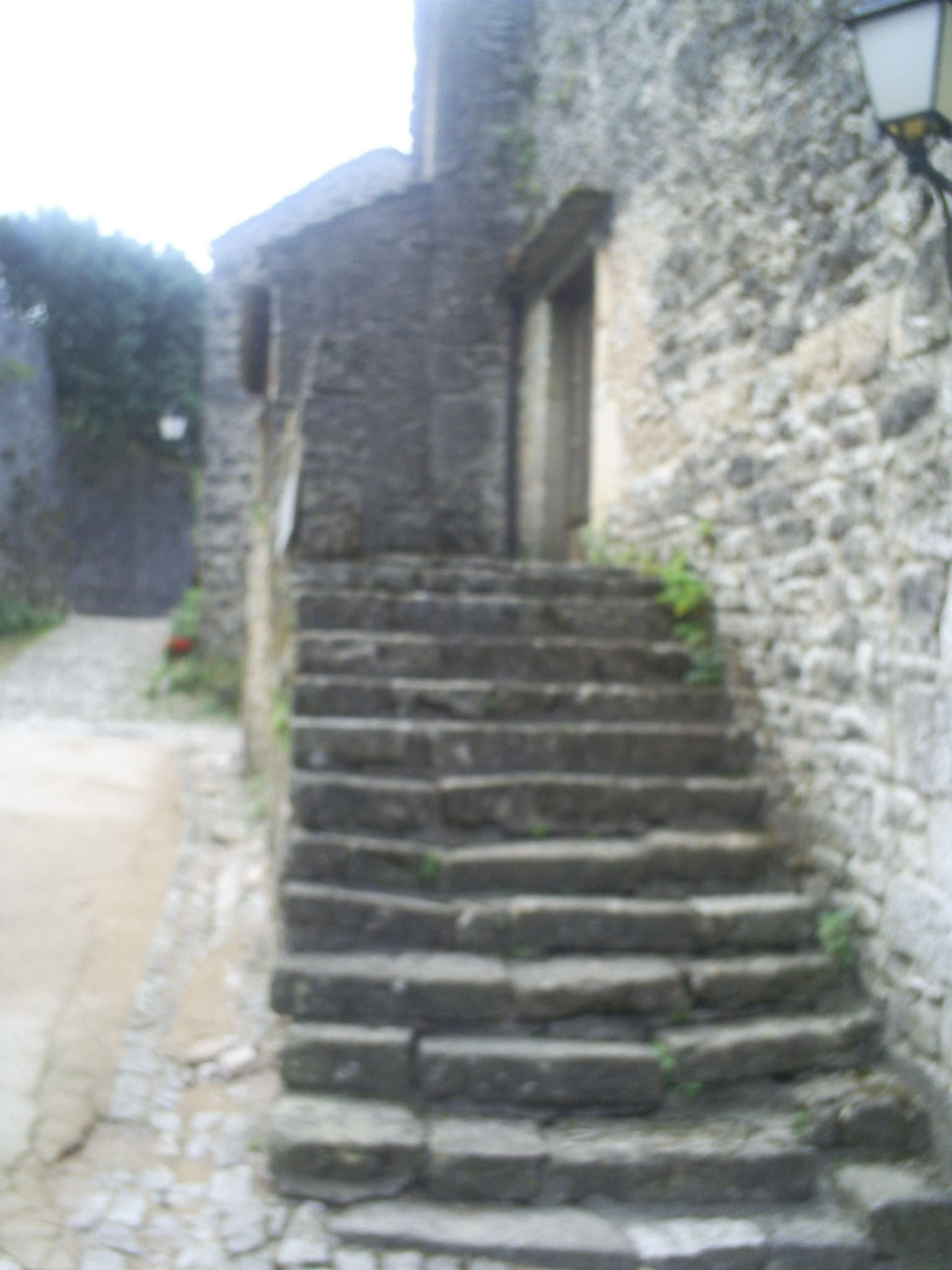 the knights templar fortified village of la couvertoirade on the