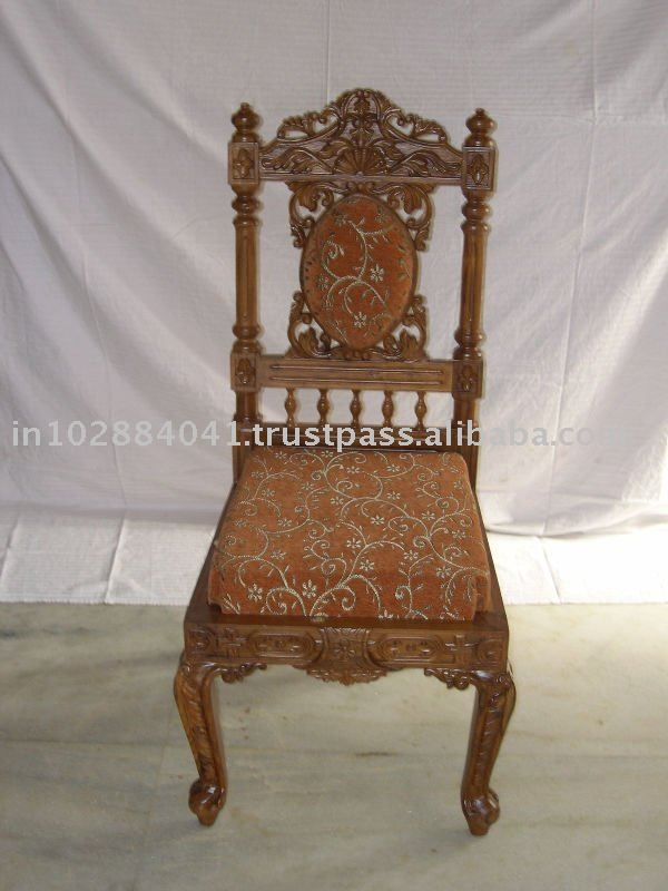 Indian carving chair - Decorative Antique Hand Carved Wooden Chairs Frame ~ Solid Dining