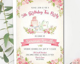 High tea birthday party invitation afternoon tea tea party high tea birthday party invitation afternoon tea tea party whimsical vintage stopboris Images