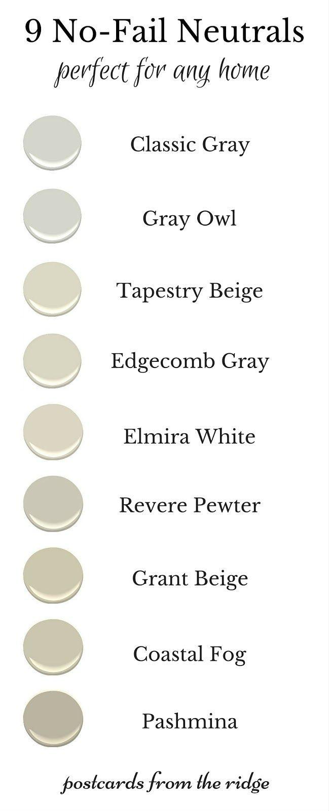 9 No-Fail Neutral Paint Colors | Neutral paint colors, Neutral paint ...