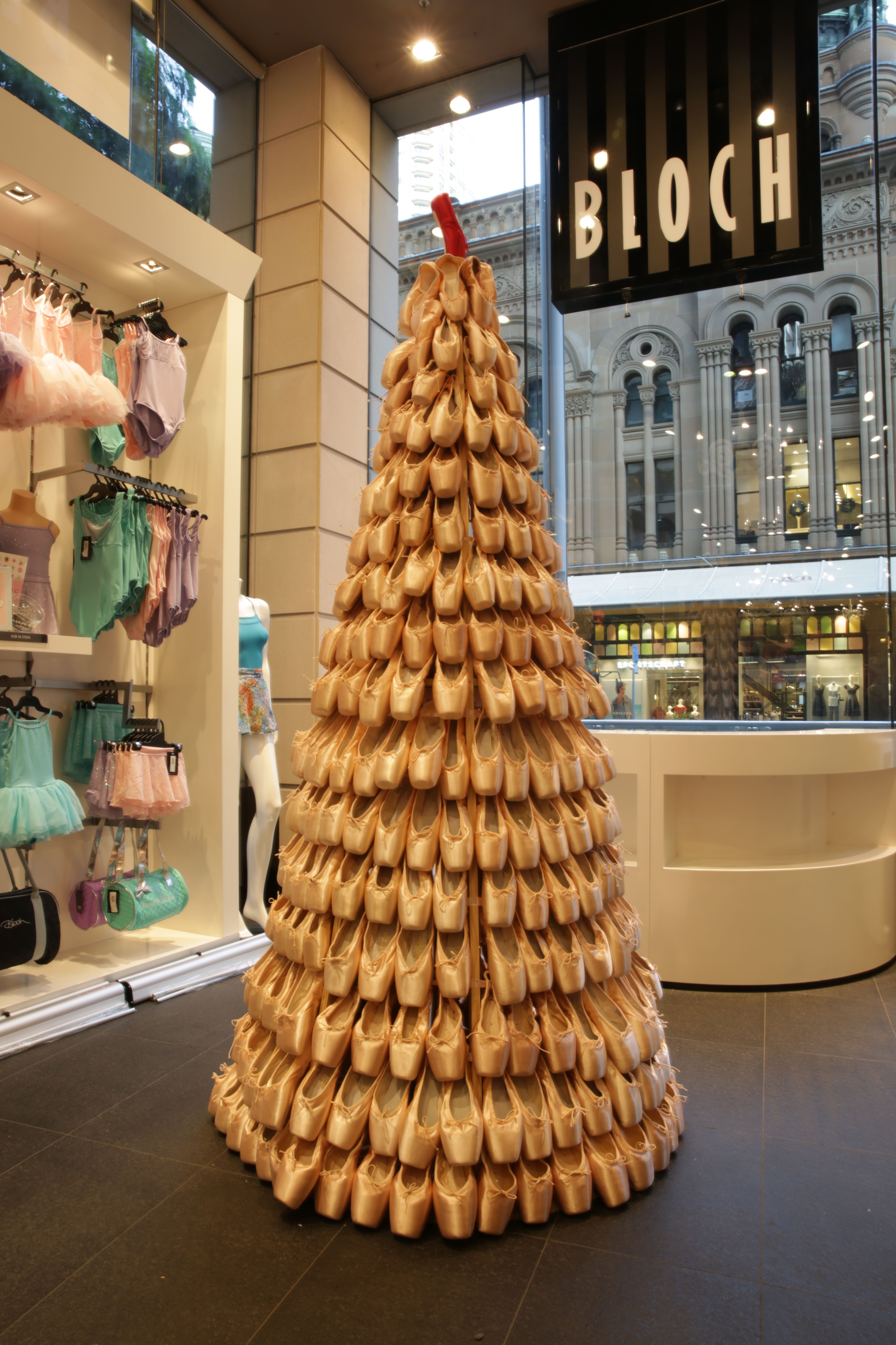 Every dancer's Christmas tree goals! Come and visit the Bloch Pointe Tree at our Sydney Flagship Store, 117 York Street. #blochpointetree