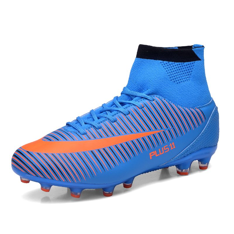 c4561e508 2016 Big Size Men Football Cleats Mens High Ankle Football Shoes Leather Soccer  Boot With Ankle Men Soccer Cleats Football Boots   Cliquez sur le bouton de  ...
