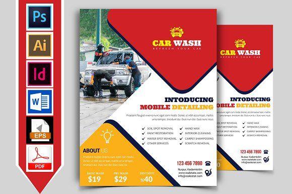 Car Wash Flyer Template Vol By Imagine Design Studio On