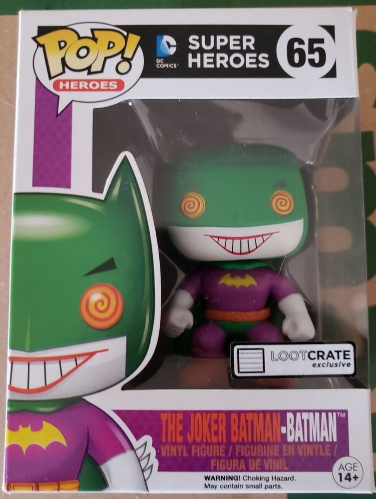 FUNKO POP VINYL DC COMICS SUPER HEROES THE JOKER BATMAN #65 FIGURE Action- & Spielfiguren