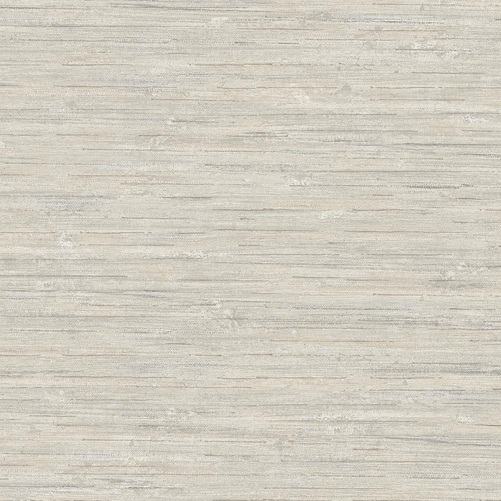 Woven Stitched Linen Effect Arthouse Ticking Stripe Grey Wallpaper 905000