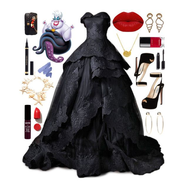 """""""Ursula"""" by emhenry ❤ liked on Polyvore featuring Winky Lux, Chanel, Prada, Paul Morelli, Bebe, NYX, Yves Saint Laurent and NARS Cosmetics"""