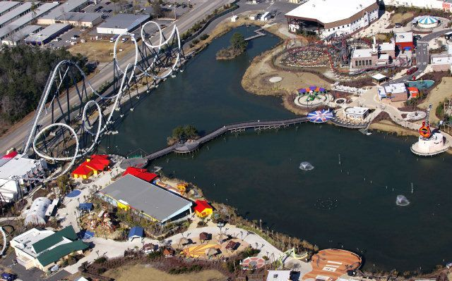 Freestyle Hard Rock Park Aerial With Images Myrtle Beach Hard