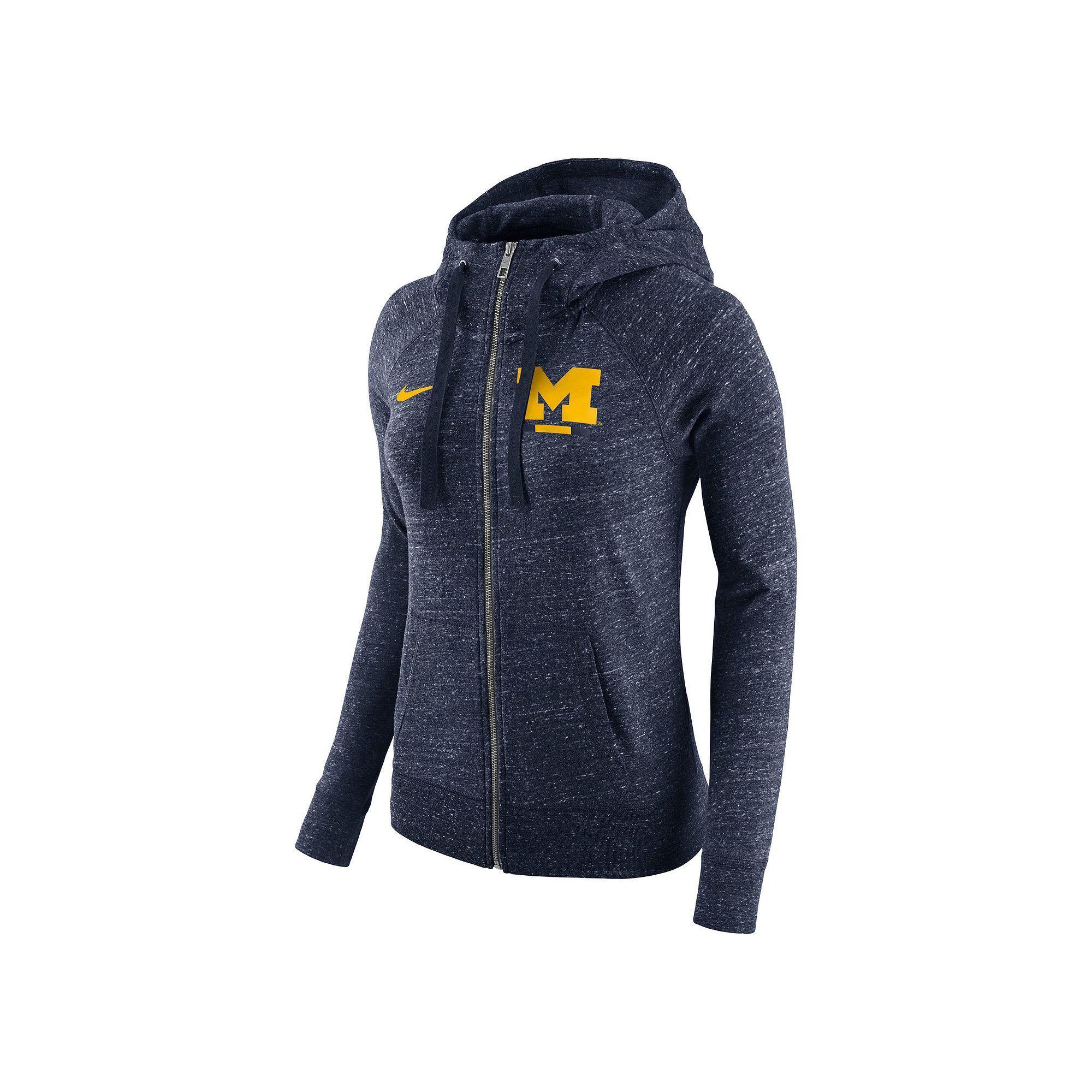 dc08ef64 Women's Nike Michigan Wolverines Gym Vintage Hoodie | Products ...
