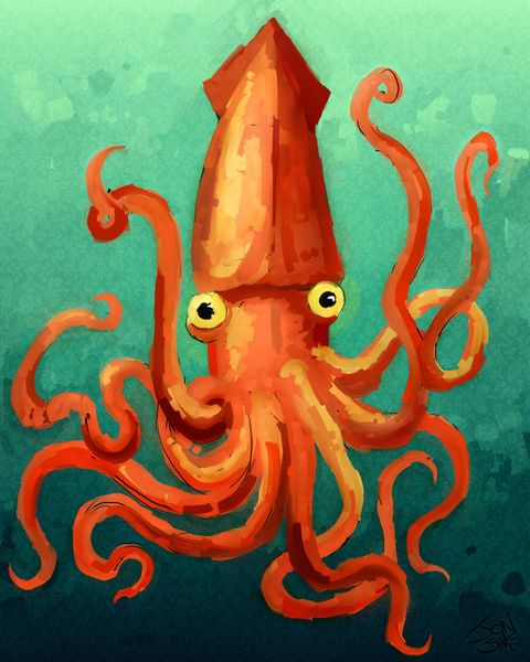 Giant Squid Art Print | Wall Candy | Pinterest | Giant squid