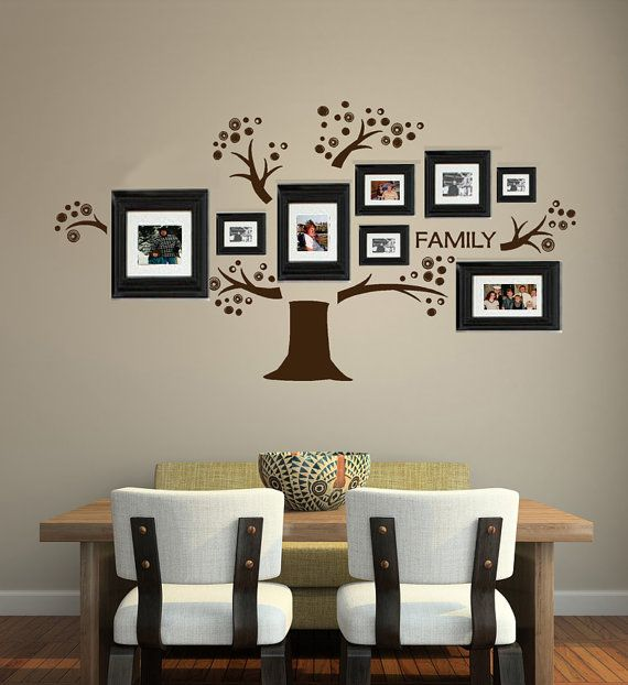 Family Tree Wall Decal Vinyl Words Art Photo Gallery Display, Home,  Business, Classroom