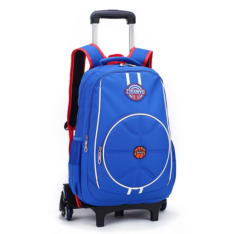Boys 3 Wheels Climb Stairs Trolley Bags Kids Wheeled Backpack Bag ...
