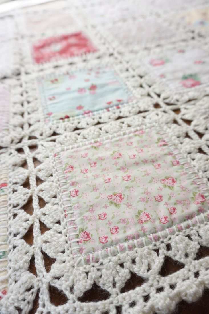 High Tea Crochet Quilt | COMBINACION TELA - CROCHET | Pinterest ...