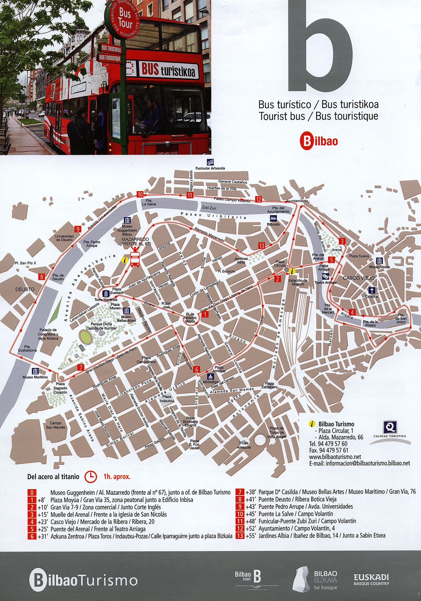 Bilbao Turismo Bus Turistico Bus Turistikoa Tourist Bus Bus