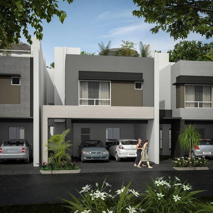 Pin de manuel salinas en urbanizaciones pinterest for Fachadas modernas para casas pequenas de dos plantas