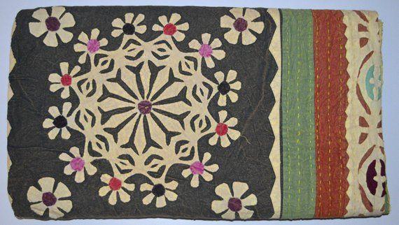 Handmade beautiful fabric bib with applique work on storenvy
