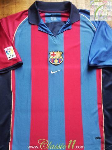 Relive Barcelona's 2001/2002 La Liga season with this original Nike home football shirt.