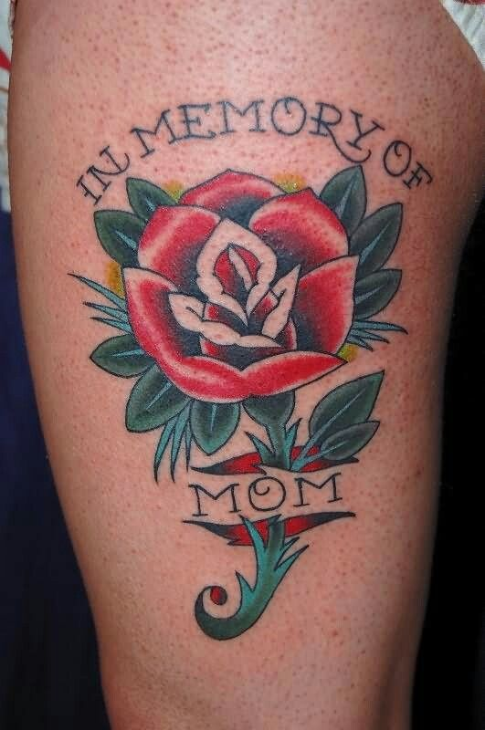Pin By Larry Condon On Memorial Tattoos Rose Tattoo Design Mom Tattoos Mom Heart Tattoo
