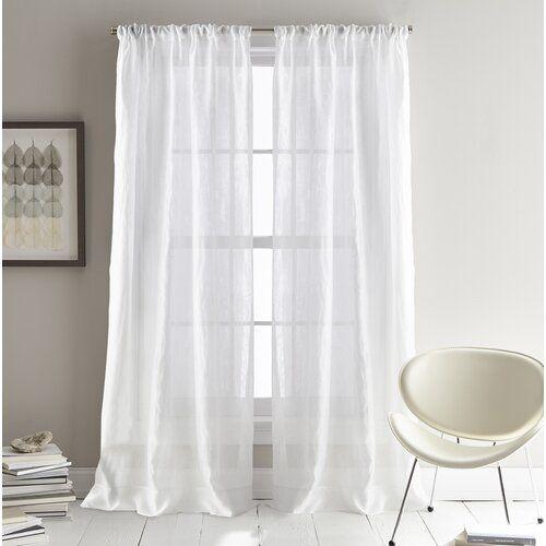 Dkny City Sky Pencil Pleat Semi Sheer Curtains Curtains