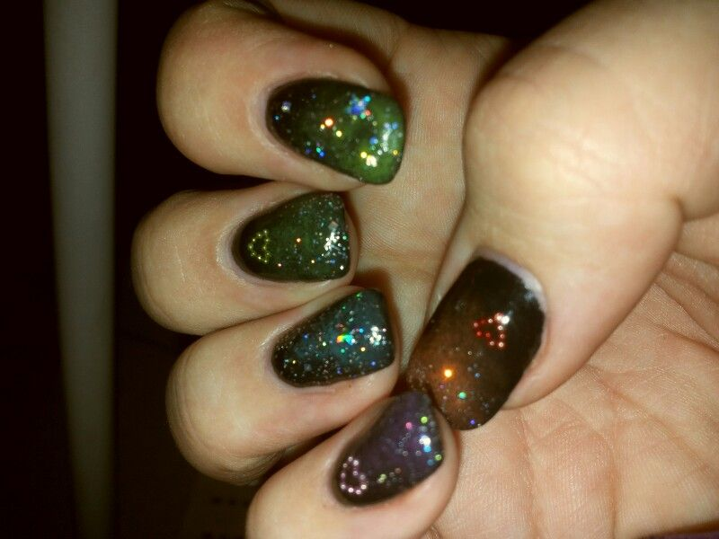 Added some stars and glitters... galaxy!