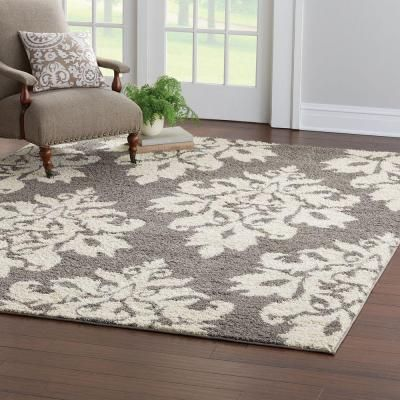 Meadow Damask Gray 8 Ft X 10