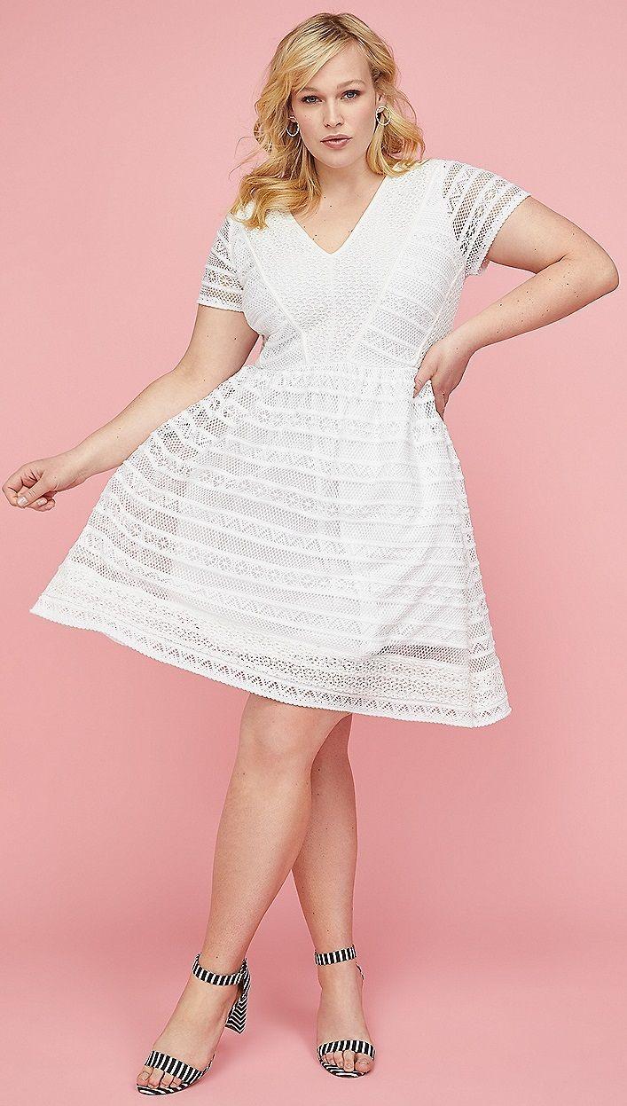 Plus Size Lace Fit & Flare Dress #plussize   Plus Size ...