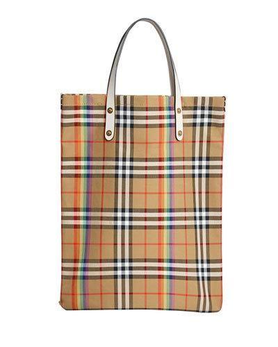 88d023aeedbc Burberry Vintage Check Rainbow Medium Shopper Tote Bag
