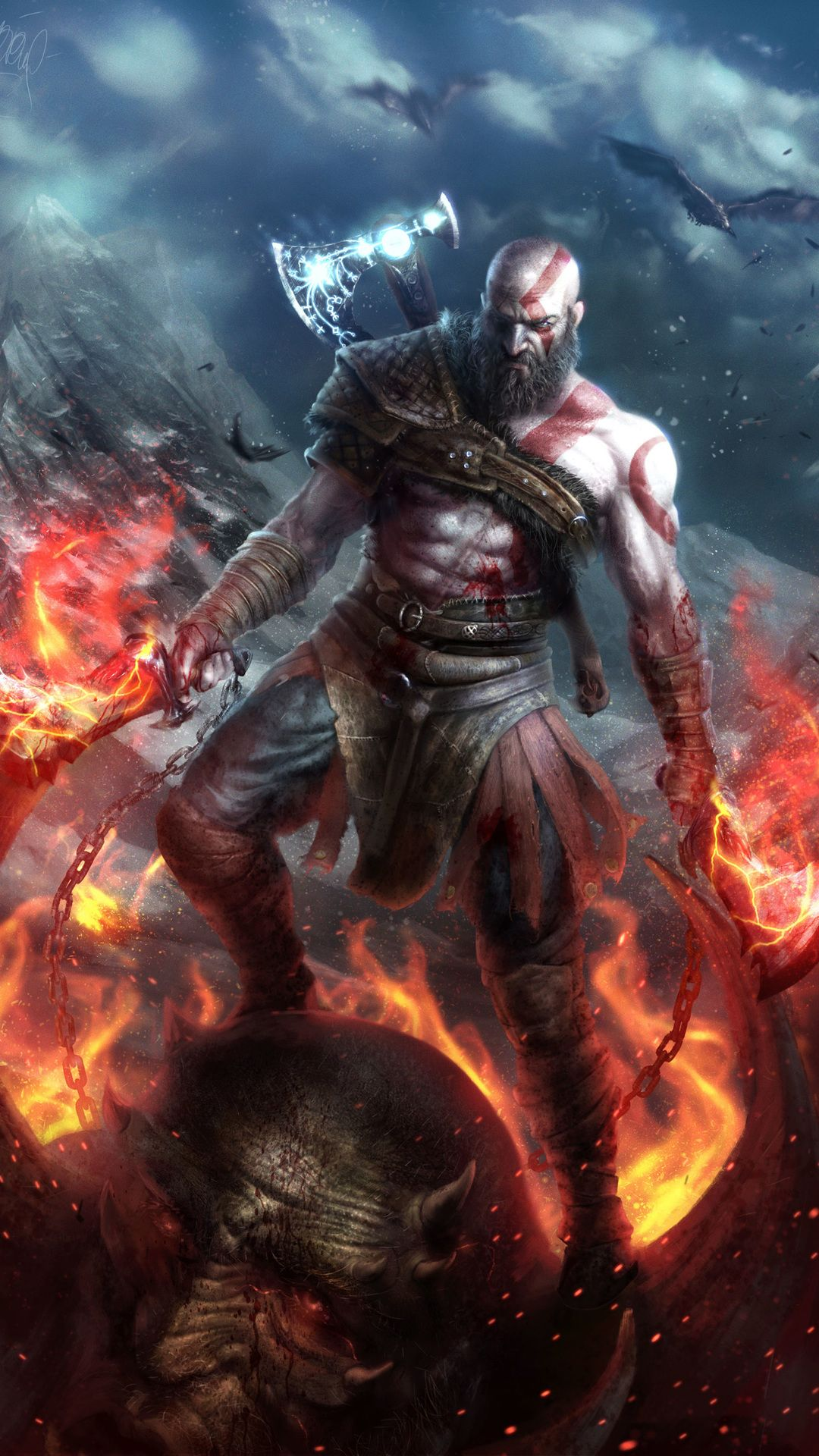 God Of War Backgrounds Kratos God Of War God Of War War Art