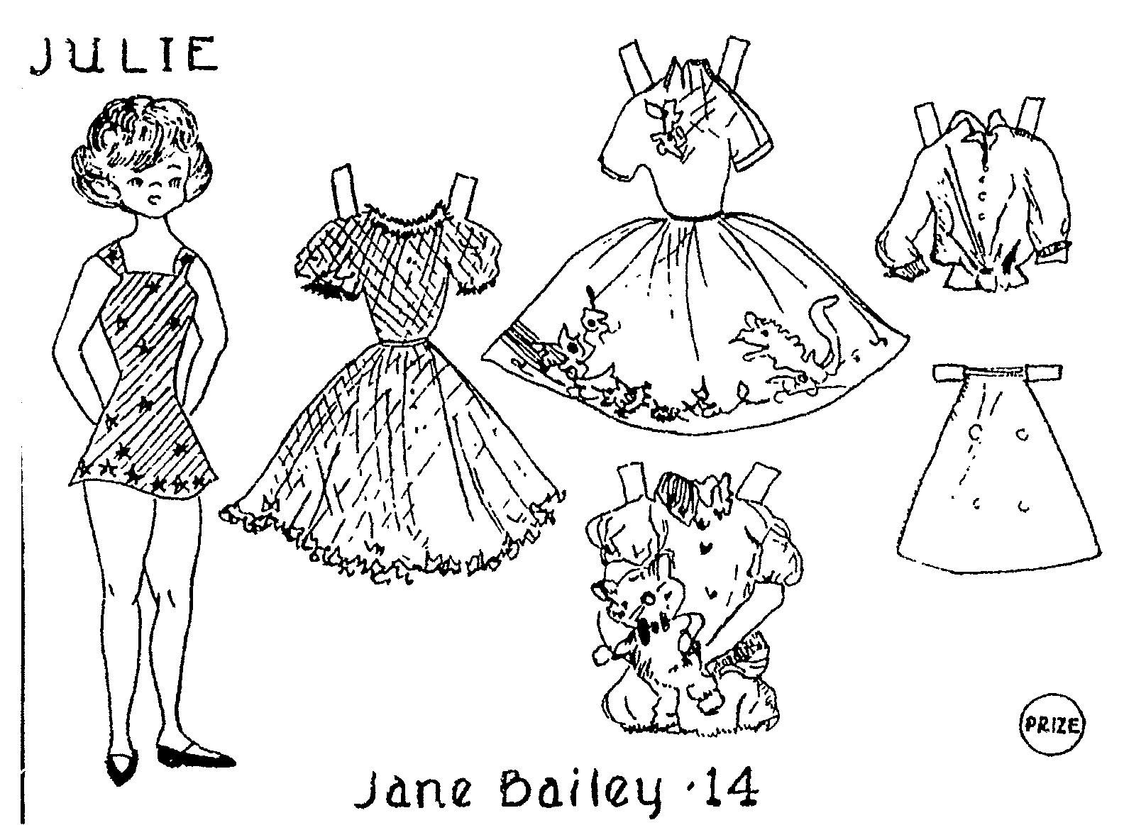 Paper dolls, Colouring pages, Dolls