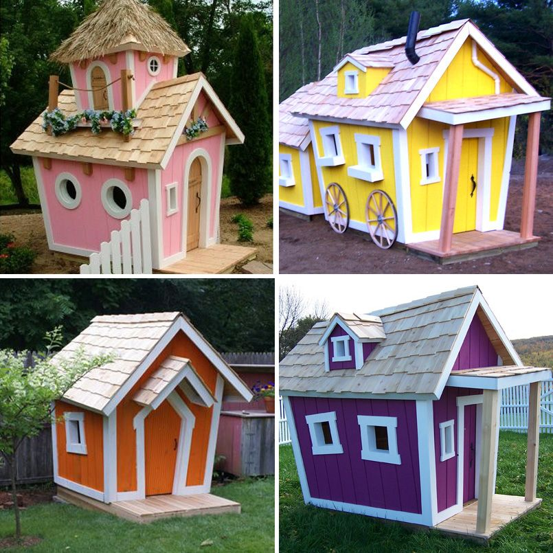Add Some Fun To Your Backyard With The Whimsical Kids Crooked House Which House Do You Like Best Crooked House Kids Playset Outdoor Dog House Diy