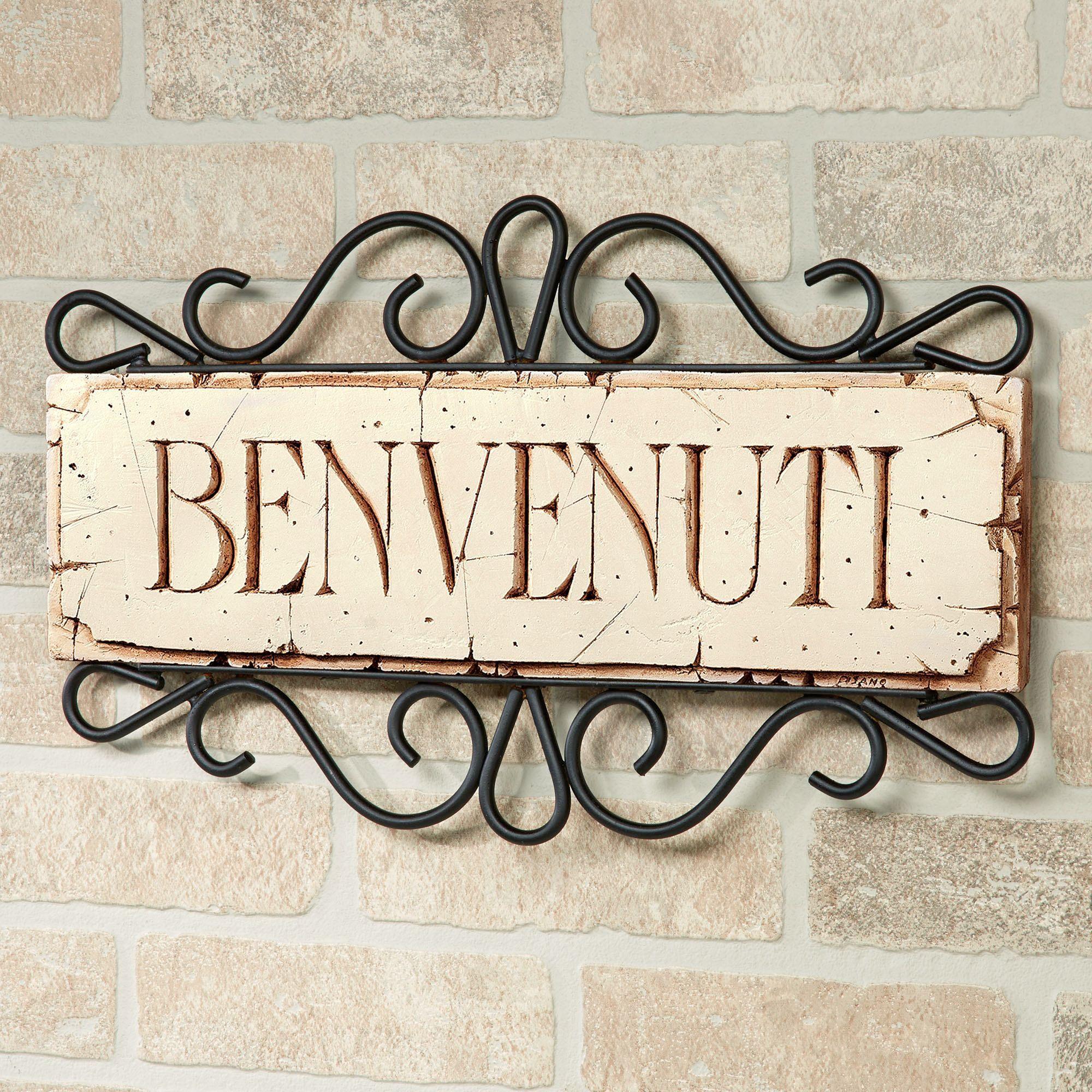 Italian benvenuti welcome plaque farmhouse sinks pinterest welcome wall plaque italian italian amipublicfo Gallery