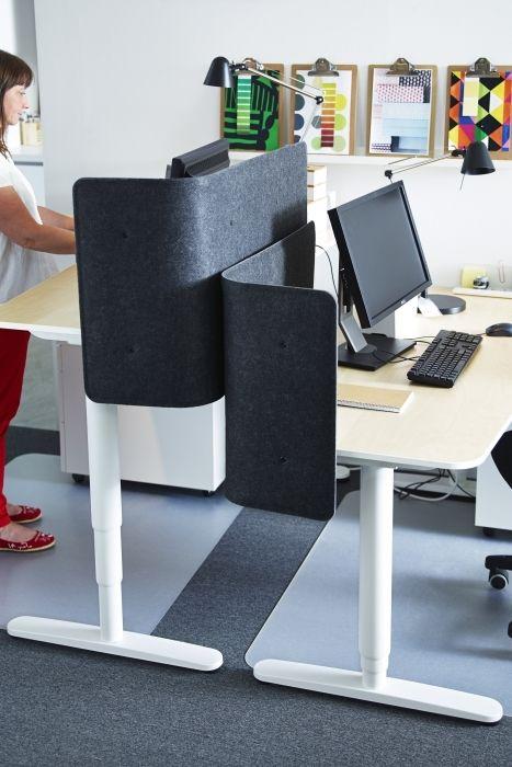 bekant desk sit stand white ikea business ikea office office workspace sit stand desk. Black Bedroom Furniture Sets. Home Design Ideas