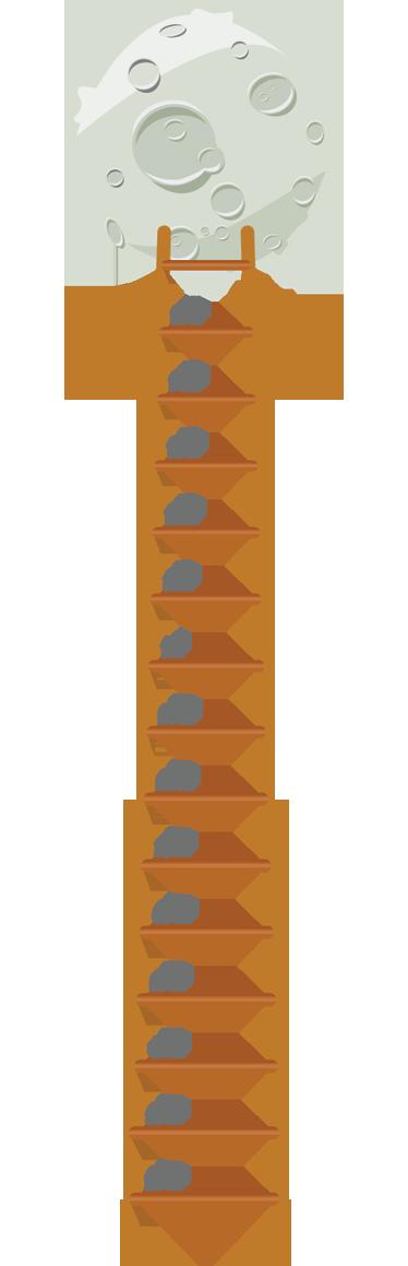 Vinilo infantil medidor luna escalera decorar la pared - Vinilos para escaleras ...