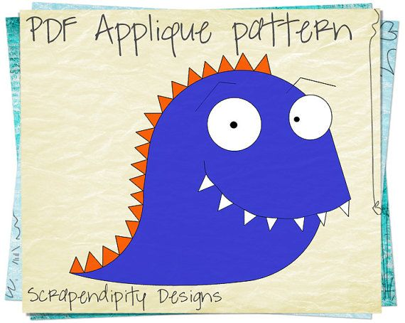 Monster Applique Template Design - Halloween Applique Quilt - monster template